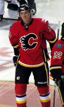 Blair Jones avec les Flames de Calgary