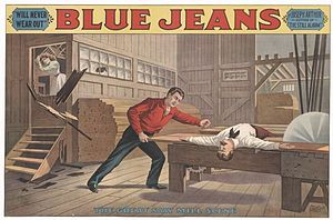 "Joseph Arthur (playwright) - Poster for ""Blue Jeans,"" 1890."