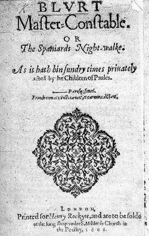 Blurt, Master Constable - Title page of Blurt, Master Constable (1602).