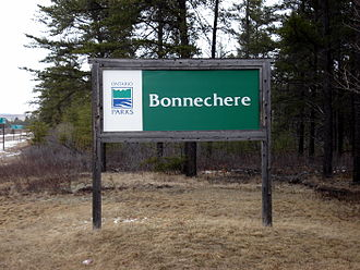 Bonnechere Provincial Park - Image: Bonnechere Provincial Park Sign