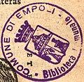 Book stamp, Comune di Empo, Bilblioteca xxmunale, Digesto 01 (cropped).jpg