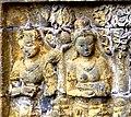 Borobudur - Divyavadana - 110 E, Maitrakanyaka meets with sixteen Nymphs (11705335444) (cropped).jpg