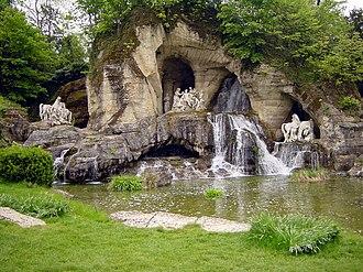 Water garden - Bosquet of the baths of Apollo, in the gardens of Versailles