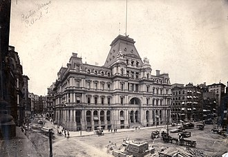 Alfred B. Mullett - Image: Boston Post Office and Subtreasury circa 1885