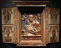 Bottega di benedetto da maiano e pittore lombardo, madonna col bambino in stucco e santi dipinti (bg, san benedetto) 01.JPG