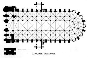Bourges Cathedral - Floorplan of the cathedral