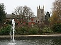 Bourne Abbey Church from the Memorial Gardens - geograph.org.uk - 299654.jpg