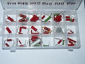 Repair kit - An electronics repair kit including different resistors