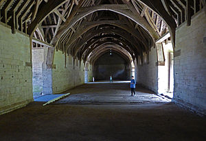 Bradford-on-Avon Tithe Barn - The interior