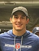 Brady Skjei with fans in February 2019 (cropped).jpg