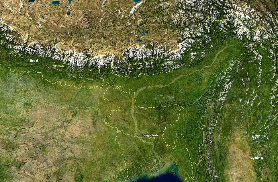 Brahmaputra-verlaufsgebiet