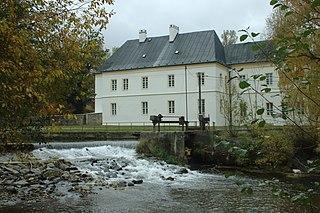 Brantice Village in Moravian-Silesian Region, Czech Republic