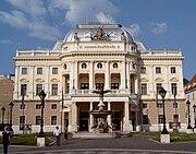 The old Slovak National Theatre building on Hviezdoslav Square