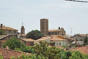 Breda, Girona - Breda, with the belltower of Sant Salvador