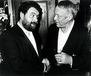 Brendan Grace - Grace with Frank Sinatra in Dublin, 1991