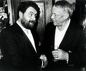 Brendan Grace - Grace with Frank Sinatra in Dublin, 1991