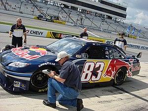 Brian Vickers - 2008 Sprint Cup car