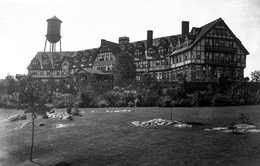 A large Tudor Revival resort