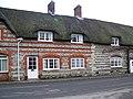 Brick and flint, Piddletrenthide - geograph.org.uk - 1066406.jpg