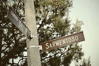 Brick (film) - Street sign for Del Rio and Sarmentoso