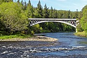 The Carron Bridge arching over the River Spey