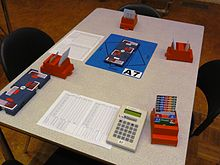 Team tandem gooit de kaarten op tafel lijst is af en de plaatsen