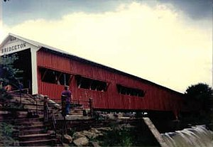 Bridgeton Covered Bridge - Old bridge