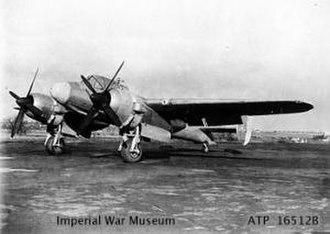 Bristol Brigand - Official photograph: Bristol Brigand T Mk 4, 5 February 1948, IWM ATP 16512B