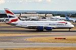 British Airways, G-XLEL, Airbus A380-841 (43687778204).jpg