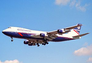 British Airways Flight 149 - Image: British Airways Boeing 747 136; G AWNA@LHR;04.04.1997 (4904934936)