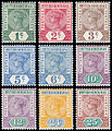 British Honduras 1891–1898 stamps.jpg