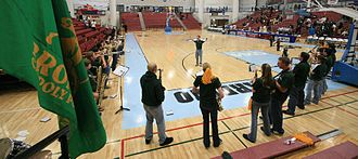 Cal Poly Pomona Broncos - The Bronco Pep Band Victory Arc at the CCAA Division II Basketball Tournament