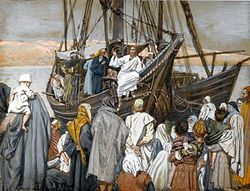 James Tissot: Jesus Preaches in a Ship