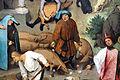 Bruegel il vecchio, proverbi fiamminghi, 1559, 22 dar rose ai porci.JPG