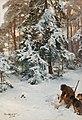 Bruno Liljefors - Vinterlandskap med jägare och hundar.jpg