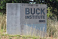 Buck Institute for Research on Aging, Novato, California -- entry sign.jpg