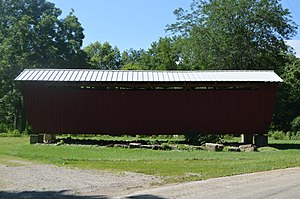 National Register of Historic Places listings in Jackson County, Ohio - Image: Buckeye Furnace Covered Bridge