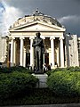 Bucuresti, Romania. ATHENEUL ROMAN si Statuia lui Mihai Eminescu (B-II-m-A-18789).jpg
