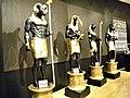 Bucuresti, Romania. Biblioteca Nationala. Expozitie Comorile Egiptului Antic. (Amon, Ibis, Horus si Anubis).jpg
