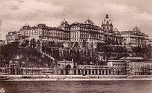 Il palazzo reale di Buda nel 1930