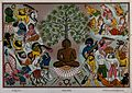 Buddha, resisting the demons of Mara, Wellcome V0046085.jpg