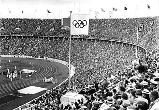 1936 in Germany - Image: Bundesarchiv B 145 Bild P017073, Berlin, Olympische Spiele im Olympiastadion