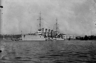 Magdeburg-class cruiser - Breslau, flying the Turkish flag as Midilli