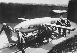 V-weapons - A V-1 is rolled out