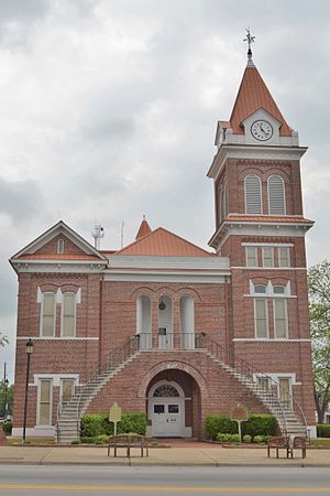National Register of Historic Places listings in Burke County, Georgia - Image: Burke County Courthouse; Waynesboro, Georgia; April 16, 2011