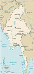 Mapa Mjanmy