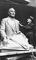 Buste d'Adolphe Cherioux et son sculpteur Alix Marquet 1939.jpg