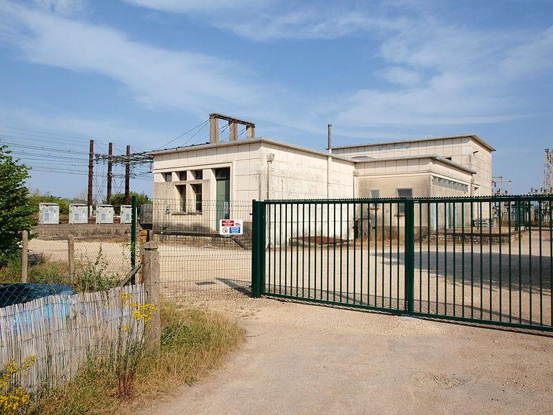 Station électrique ferroviaire de Cézy (Yonne, France)