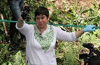 Antonia Juhasz - Antonia Juhasz in Ecuador in November 2013. Lago Agrio oil field.