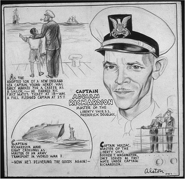 File:CAPT. ADRIAN RICHARDSON - MASTER OF THE LIBERY SHIP, S.S. FREDERICK DOUGLASS - NARA - 535678.jpg